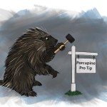 PorcupinewithSign